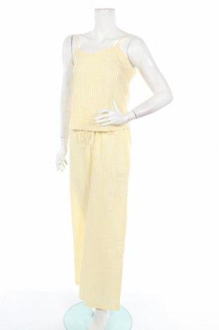 Дамски костюм Boohoo, Размер L, Цвят Жълт, 98% памук, 2% еластан, Цена 6,50лв.