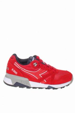Дамски обувки Diadora, Размер 36, Цвят Червен, Естествен велур, текстил, еко кожа, Цена 94,52лв.