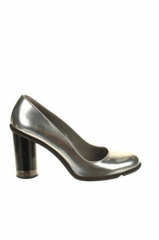 Încălțăminte de damă Karl Lagerfeld, Mărime 38, Culoare Gri, Piele naturală, Preț 374,02 Lei
