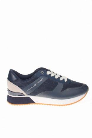 Дамски обувки Tommy Hilfiger, Размер 39, Цвят Син, Еко кожа, текстил, естествен велур, Цена 137,80лв.