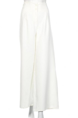 Дамски панталон Boohoo, Размер M, Цвят Бял, 95% полиестер, 5% еластан, Цена 40,50лв.