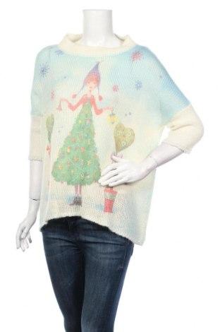 Damski sweter United Colors Of Benetton, Rozmiar M, Kolor Kolorowy, 44%akryl, 27% wełna, 13% moher, 13% poliamid, 2% wiskoza, 1% poliester, Cena 185,00zł