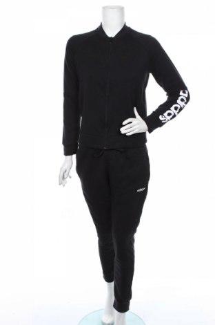 Дамски спортен комплект Adidas, Размер M, Цвят Черен, 72% памук, 28% полиестер, Цена 159,00лв.