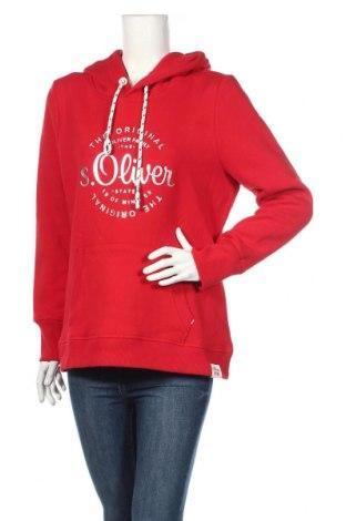Γυναικείο φούτερ S.Oliver, Μέγεθος L, Χρώμα Κόκκινο, 50% βαμβάκι, 50% πολυεστέρας, Τιμή 25,61€