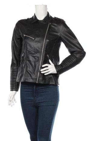 Γυναικείο δερμάτινο μπουφάν H&M, Μέγεθος M, Χρώμα Μαύρο, Δερματίνη, Τιμή 22,73€