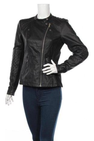 Γυναικείο δερμάτινο μπουφάν Pep, Μέγεθος M, Χρώμα Μαύρο, Δερματίνη, Τιμή 34,37€