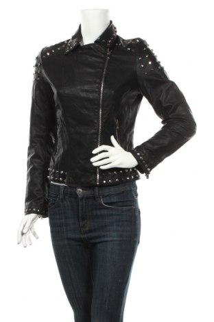 Дамско кожено яке Primadonna, Размер M, Цвят Черен, Еко кожа, Цена 42,53лв.