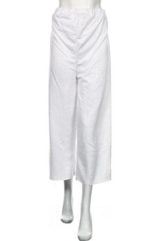 Дамско спортно долнище Boohoo, Размер S, Цвят Бял, Полиестер, Цена 31,50лв.