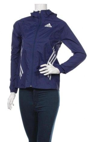 Γυναικείο μπουφάν αθλητικό Adidas, Μέγεθος XS, Χρώμα Μπλέ, Τιμή 25,92€