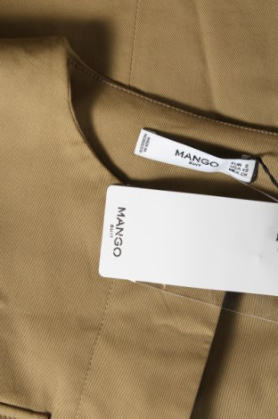 Дамско яке Mango, Размер S, Цвят Зелен, 98% памук, 2% еластан, Цена 35,60лв.
