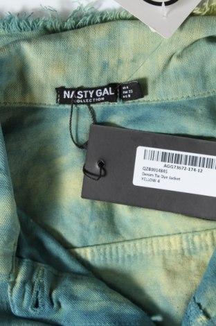 Дамско яке Nasty Gal, Размер XXS, Цвят Син, 98% памук, 2% еластан, Цена 27,20лв.