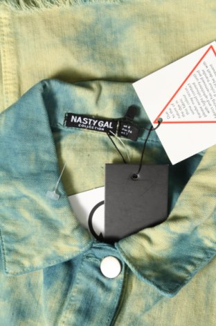 Дамско яке Nasty Gal, Размер XS, Цвят Син, 98% памук, 2% еластан, Цена 24,40лв.