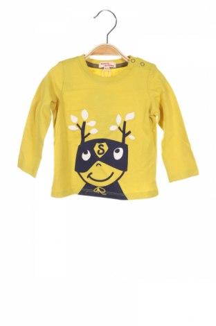 Детска блуза Du Parell Au Meme, Размер 9-12m/ 74-80 см, Цвят Зелен, Памук, Цена 25,50лв.