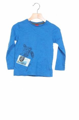 Детска блуза S.Oliver, Размер 3-4y/ 104-110 см, Цвят Син, Памук, Цена 28,50лв.