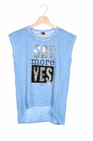 Детска блуза S.Oliver, Размер 12-13y/ 158-164 см, Цвят Син, Цена 25,50лв.