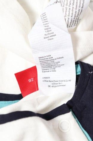 Детска блуза S.Oliver, Размер 18-24m/ 86-98 см, Цвят Бял, Памук, Цена 22,04лв.