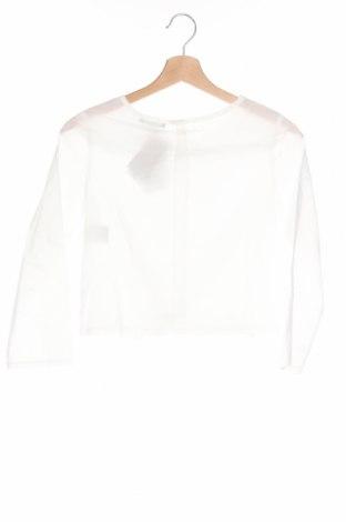 Детска блуза Sisley, Размер 7-8y/ 128-134 см, Цвят Бял, Памук, Цена 11,70лв.