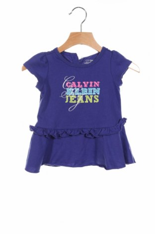 Detské šaty  Calvin Klein, Veľkosť 18-24m/ 86-98 cm, Farba Modrá, 56% bavlna, 44% polyester, Cena  19,60€