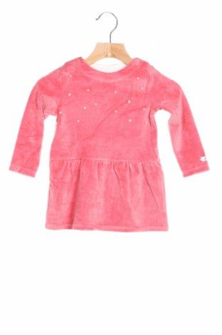 Детска рокля S.Oliver, Размер 9-12m/ 74-80 см, Цвят Розов, 85% памук, 15% полиестер, Цена 28,50лв.