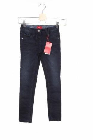 Dětské džíny  S.Oliver, Rozměr 6-7y/ 122-128 cm, Barva Modrá, 90% bavlna, 8% polyester, 2% elastan, Cena  501,00Kč