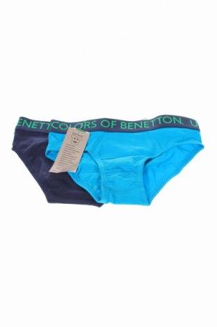 Παιδικό σύνολο United Colors Of Benetton, Μέγεθος 8-9y/ 134-140 εκ., Χρώμα Μπλέ, 95% βαμβάκι, 5% ελαστάνη, Τιμή 9,65€