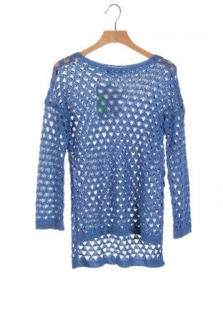 Dětský svetr  Sisley, Rozměr 10-11y/ 146-152 cm, Barva Modrá, 70%acryl, 30% polyamide, Cena  580,00Kč