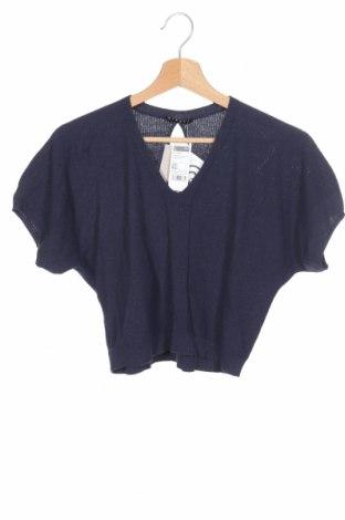 Dětský svetr  Sisley, Rozměr 8-9y/ 134-140 cm, Barva Modrá, 50% bavlna, 50%acryl, Cena  375,00Kč