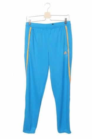 Pantaloni trening de copii Adidas, Mărime 13-14y/ 164-168 cm, Culoare Albastru, Poliester, Preț 188,47 Lei