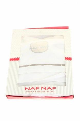 Set lenjerie de pat Naf Naf, Culoare Alb, Bumbac, Preț 88,42 Lei