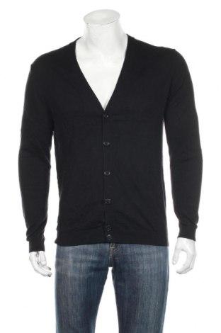 Jachetă tricotată de bărbați S.Oliver, Mărime L, Culoare Negru, 50% bumbac, 50% lână, Preț 195,05 Lei