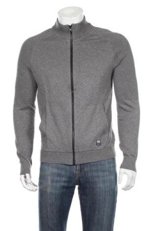 Jachetă tricotată de bărbați S.Oliver, Mărime M, Culoare Gri, Bumbac, Preț 176,74 Lei