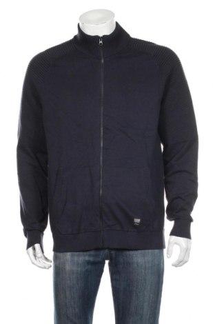 Jachetă tricotată de bărbați S.Oliver, Mărime XL, Culoare Albastru, Bumbac, Preț 176,74 Lei