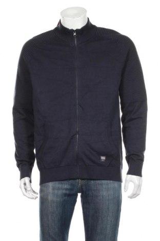 Jachetă tricotată de bărbați S.Oliver, Mărime XL, Culoare Albastru, Bumbac, Preț 161,37 Lei