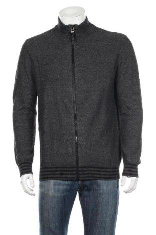 Jachetă tricotată de bărbați S.Oliver, Mărime XL, Culoare Gri, Bumbac, Preț 124,87 Lei