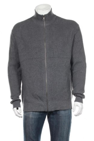 Jachetă tricotată de bărbați S.Oliver, Mărime XXL, Culoare Gri, 80% bumbac, 20% modal, Preț 103,74 Lei