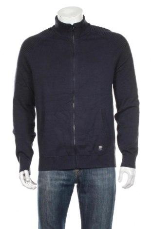 Jachetă tricotată de bărbați S.Oliver, Mărime L, Culoare Albastru, Bumbac, Preț 136,39 Lei