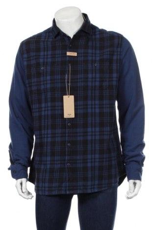 Ανδρικό πουκάμισο Mango, Μέγεθος XL, Χρώμα Μπλέ, Βαμβάκι, Τιμή 16,33€