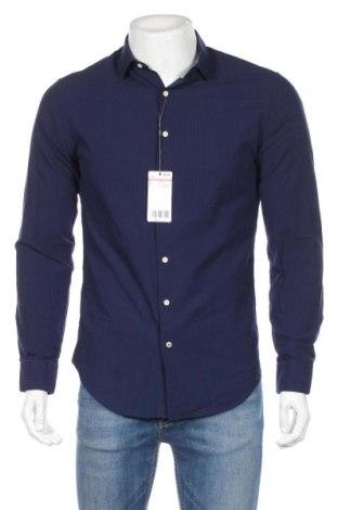 Ανδρικό πουκάμισο Mango, Μέγεθος S, Χρώμα Μπλέ, Βαμβάκι, Τιμή 20,04€