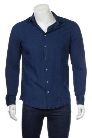 Ανδρικό πουκάμισο Mango, Μέγεθος S, Χρώμα Μπλέ, Βαμβάκι, Τιμή 19,30€