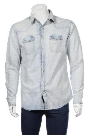 Ανδρικό πουκάμισο Mango, Μέγεθος L, Χρώμα Μπλέ, Βαμβάκι, Τιμή 20,04€