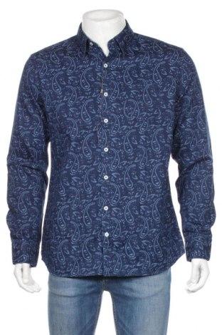 Ανδρικό πουκάμισο Mango, Μέγεθος L, Χρώμα Μπλέ, Βαμβάκι, Τιμή 19,30€