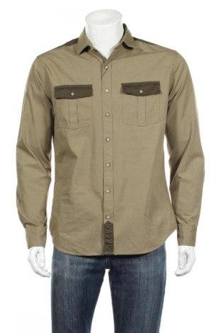 Ανδρικό πουκάμισο Mango, Μέγεθος M, Χρώμα Πράσινο, Βαμβάκι, Τιμή 20,04€