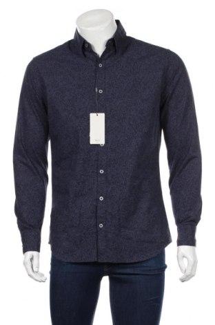 Ανδρικό πουκάμισο Mango, Μέγεθος M, Χρώμα Μπλέ, Βαμβάκι, Τιμή 20,04€