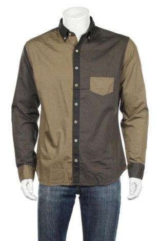 Ανδρικό πουκάμισο Mango, Μέγεθος L, Χρώμα Πράσινο, Βαμβάκι, Τιμή 20,04€