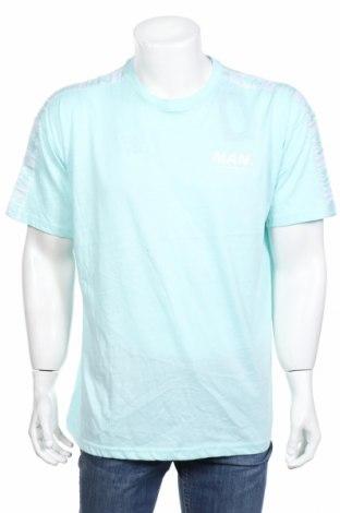 Ανδρικό t-shirt Boohoo, Μέγεθος XS, Χρώμα Μπλέ, 50% βαμβάκι, 50% πολυεστέρας, Τιμή 4,31€
