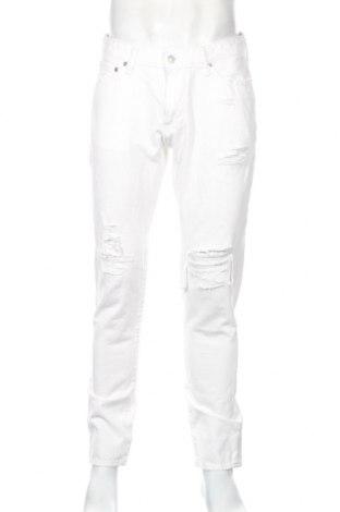 Pánske džínsy  Abercrombie & Fitch, Veľkosť M, Farba Biela, 71% bavlna, 27% lyocell, 1% elastan, Cena  21,22€