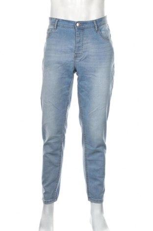 Pánske džínsy  Boohoo, Veľkosť L, Farba Modrá, 82% bavlna, 17% polyester, 1% elastan, Cena  17,07€