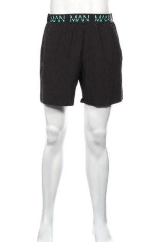 Pánske kraťasy  Boohoo, Veľkosť M, Farba Čierna, 95% polyester, 5% elastan, Cena  16,49€
