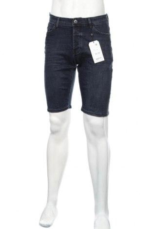 Pánske kraťasy  Q/S by S.Oliver, Veľkosť S, Farba Modrá, 87% bavlna, 12% polyester, 1% elastan, Cena  18,85€