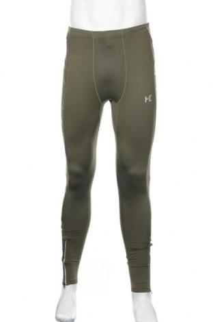 Męskie legginsy H.E. By Mango, Rozmiar M, Kolor Zielony, 91% poliamid, 9% elastyna, Cena 52,80zł